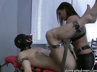 Victim Is Blessed At The End With The Feet From His Mistress In His Mouth