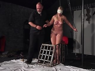 Chubby Chick Masie Dee Is Tied Up And Disciplined With Candle Paraffin Wax