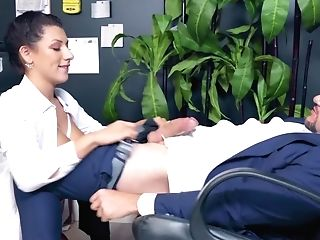 Man Takes Tempting Honey To Office To Make Her Suck And Fuck