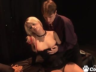 Lil' Tits Blonde Lacie Heart Gets Her Mouth Utter Of Spunk