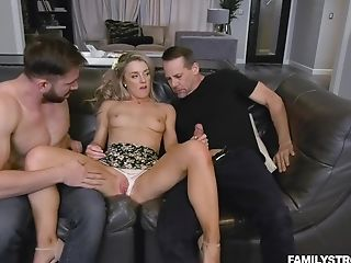 Two Magnificent Dudes Loves Fucking Abilities Of Never-to-be-forgotten Blonde Kate Kennedy