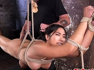 Big-titted Asian Servant Gets Predominated