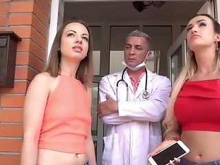 Man Fucks These Two Roomies And Cums On Their Big Tits