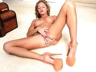 Long Legged Chick Cj Bridge Is Masturbating Labia Spreading Gams Broad Open
