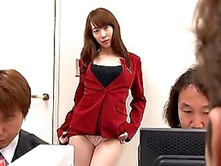 Sexy Office Employee Yui Hatano Taking It From The Behind