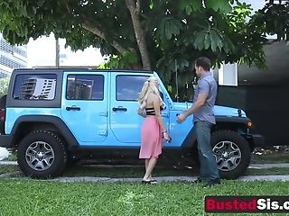 Hot Blonde Gets A Jeep As A Introduce From Her Horny Stud Chief
