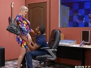Big-chested Blonde Mummy Ryan Keely Gets Fucked By A Large Black Dick