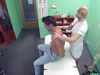 Nurse Loves To Get Fucked On The Hospital Sofa By Her Patient