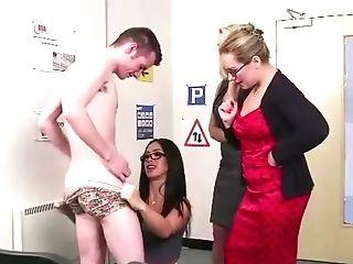 Brit Office Honies Disrobe Horny Cfnm Unexperienced
