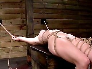 Extreme Tying Leads The Woman To A Smashing Orgasm