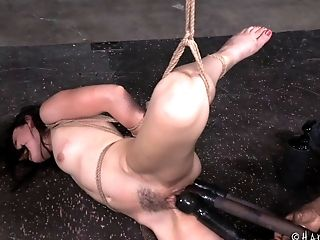 Attacking Amy's Private Parts Is Effortless Since She's Tied Up!