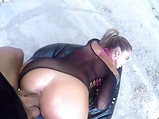 Curvy Seductress Medusa Fucks Her Horny Friend Outdoors