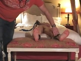 Feet Kittle Torment Restrain Bondage At The Motel Room With Cathy Crown