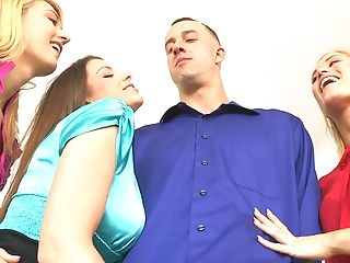"""Blinded School Femmes At The Cfnm Secret """"grope And Grab"""""""