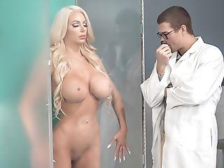 Latex subway oiled girl