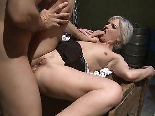 Matures Blonde Mummy Katy Sweet Guzzles Jism After A Hard Fuck
