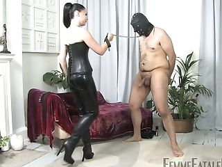 Lady Sophia Black Wears Sexy Costum For Seducing And Fucking Her Paramour