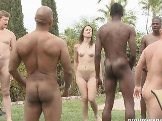 Petite Teenager Breezy Amber Rayne Group-fucked Gonzo By Black Dudes