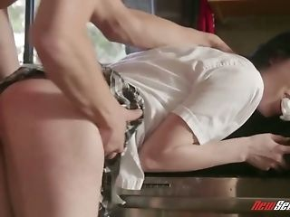 Libidinous Sweetie Bruce Venture Gets Her Labia Fucked Rear End Style In The Kitchen