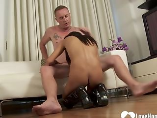 Witness A Spunky Asian Beauty Showcase Her Abilities While Sucking And Railing His Hard Knob
