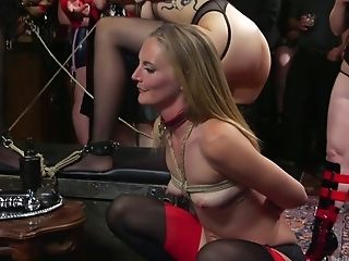 Experienced Hoe Aiden Starr Takes Part In Crazy Sadism & Masochism Group Lovemaking In Public