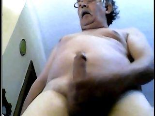 Grand-pa Jizz On Web Cam