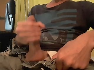 Home Edging (watching Porno In Living Room) By A Rainy Day #7