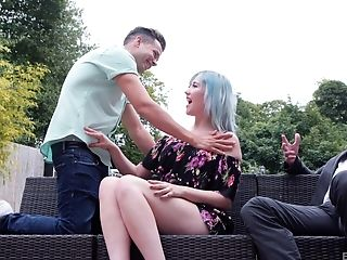 Misha Mayfair Fucks Two Guys In A Public Park With A Blessed Ending