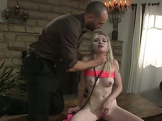 Servant Pallid Slender Blonde Whore Lexi Lore Gonna Be Chained