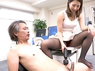 Titillating Asian Lady Chief And Old Fart
