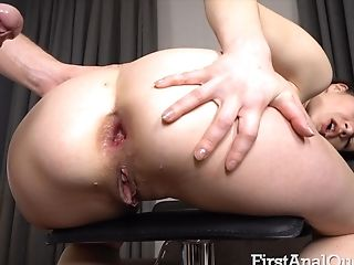 Dude Opens Up Ass Fucking Crevice Of Pretty Honey With Ponytails Lina Miles
