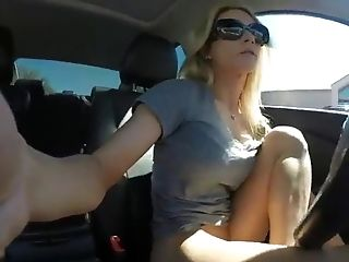 Woman Piss In Her Car