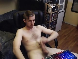 Canadian Stud Wanks Uncircumcised Dick. Horny Sexy Webcam Model Freakyknight No Jizm