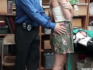 Shoplifting Stunner Alyce Anderson Gets Her Coochie And Mouth Disciplined In The Back Room