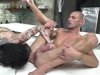 Tattooed Mega Big-chested Hooker Megan Inky Gets Dual Penetrated In Crazy Group Fuck-a-thon Scene