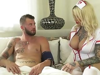 Big-titted Tattooed Nurse Nadia Love Fucked By Patient Johnny Hill