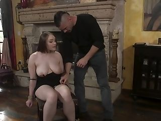 Brutal Punk Ties Up And Fucks Lovely Stunner With Big Boobies Hadley Mason