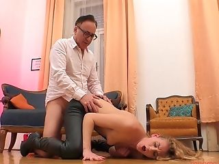Deviant Leather Fixation Whore Linda Leclair Blows And Rails Dick In Boots