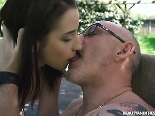 Outdoor Rear End Fuck With Nice Teenage Charlotte Johnson Taking Old Bone