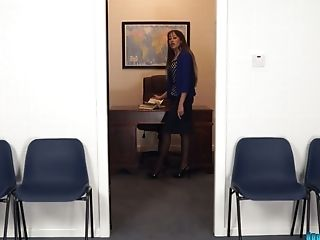 Nasty Assistant Jenny Shows Undress Taunt In The Office