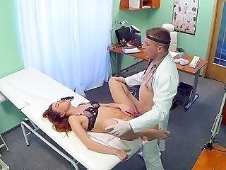 Doc Drills Junior Patient And Cums On Her Tits