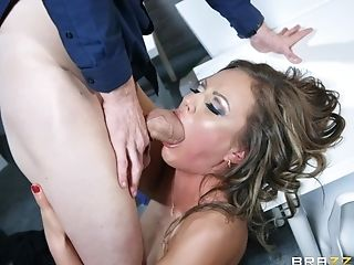 Sexy Assistant Tina Getting Fucked Raw By A Gigantic Bone After Hours