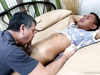 Ethnic asian boys pound bareback eachother