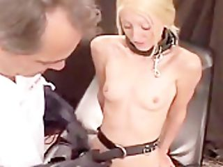 Carla Agrees To Electrified Stimulation And Fucks Before Eating Jism