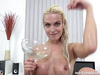 Prague Blonde Cougar Lena Love Loves Pissing And Masturbating A Lot