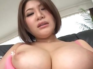 Giant Tits Of Asian Mummy Oshikawa Yuri Toyed With And Her Poon Creamed