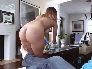 Voluptuous Cleaning Lady Enjoyments A Giant Pipe