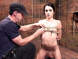 Skinny Beauty Screwed At Submissive Training