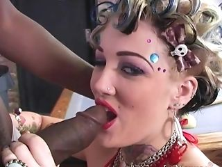 Candy Monroe Gets Her Moist Cunt Crammed With A Big Black Knob