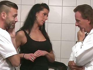 Hot Blooded Dark Haired Texas Patti Is Fucked By Gynecologist And His Assistant